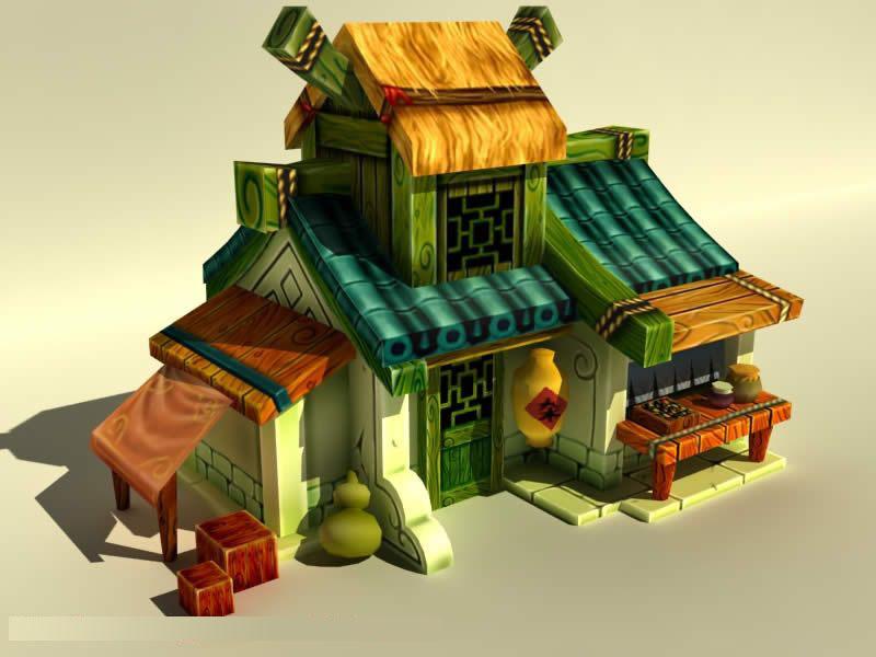 maya房子模型高清图片