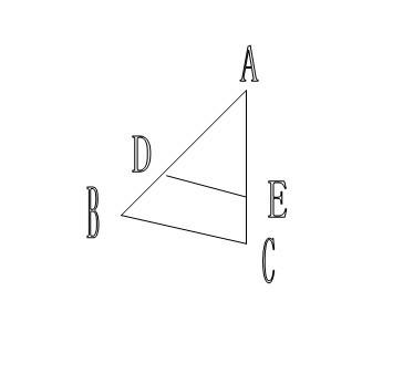 如图, ABC是等腰三角形,BC为底边,DE BC, ADE是等腰三角形吗