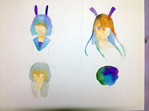 我画的跟色弱似的!我马克笔和彩铅都不错,就是漫画!看图!左边是大全!水彩水彩拿图片刀图片