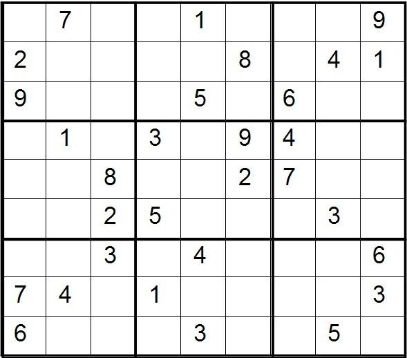 1~9数字九宫格数学题图片