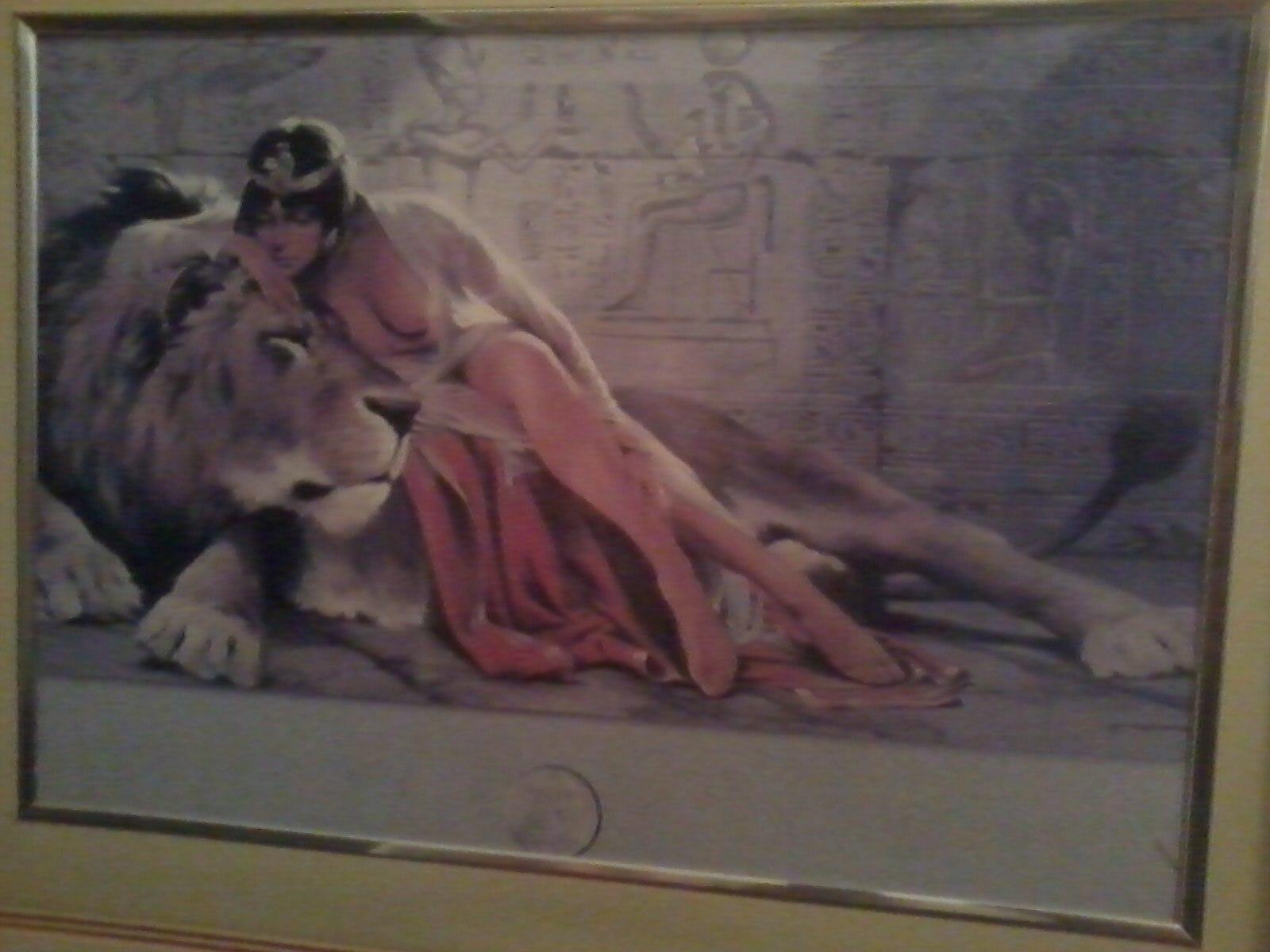 一头狮子和一个美女 这张图叫什么名字