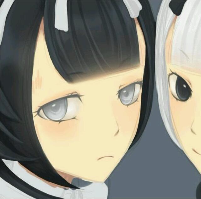 动漫姐妹一个长发一个短发头像(9)