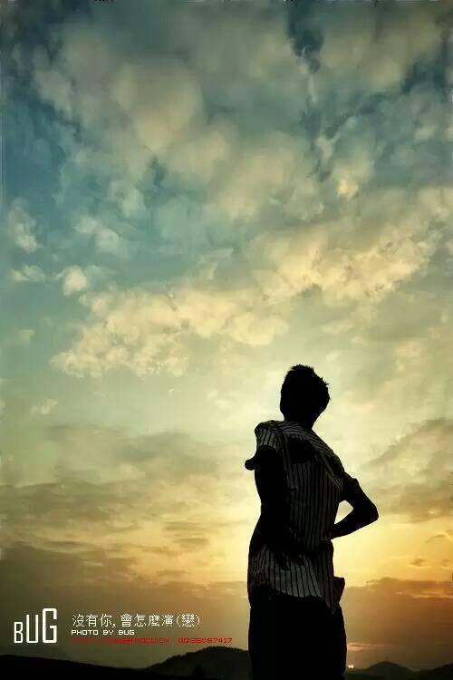 一个人孤独背影黄昏该怎么感情?图片