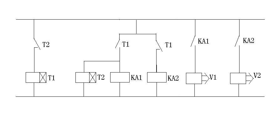 两个继电器和两个时间继电器怎么控制两个电磁阀一个10秒断开一个20秒图片