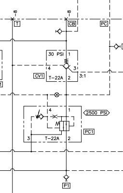 液压阀符号cv1阀组中液压流向及功用图片