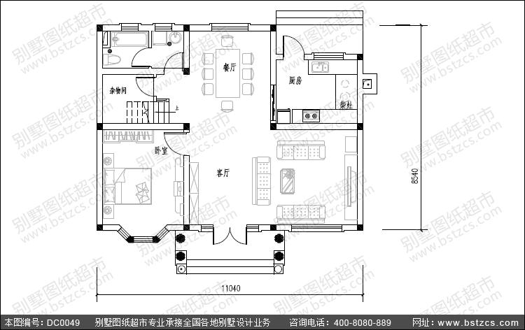 5米宽房屋设计图坐南图片