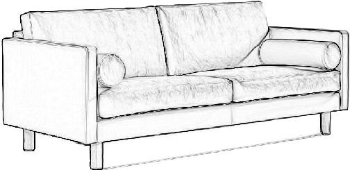 如何用ps按照沙发图画出简单的线条,制作一下的效果图图片