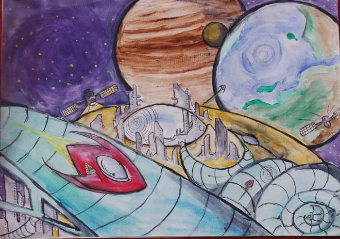 科技绘画关于星球的图片,越多越好图片