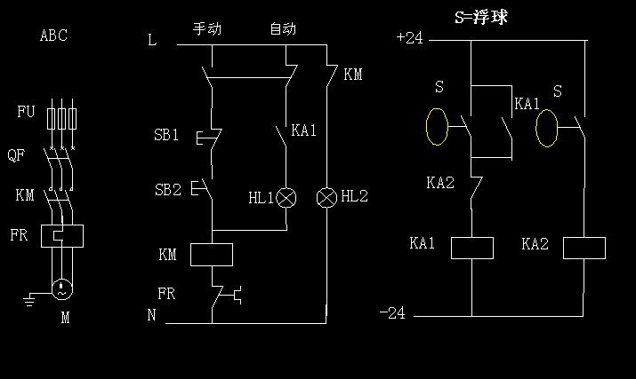 浮球水泵控制电路图图片