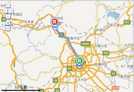 北京前门去八达岭长城