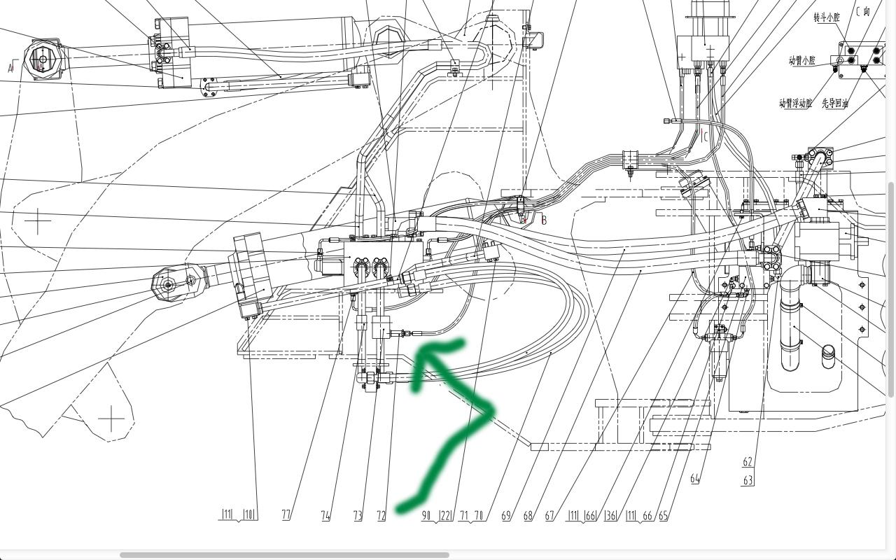 请问柳工856分配阀小单向阀在那个位置啊?图片