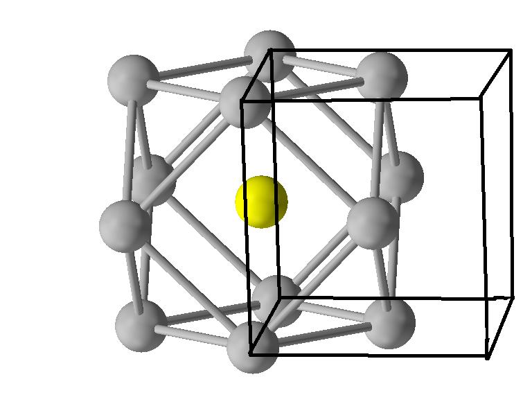 面心立方晶体的配位数