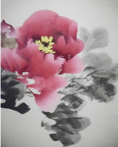 如何画牡丹花图片
