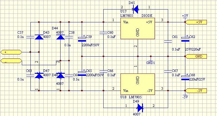 正负5v电源输出 正负5v稳压电源电路 正负5v稳压电源电路图