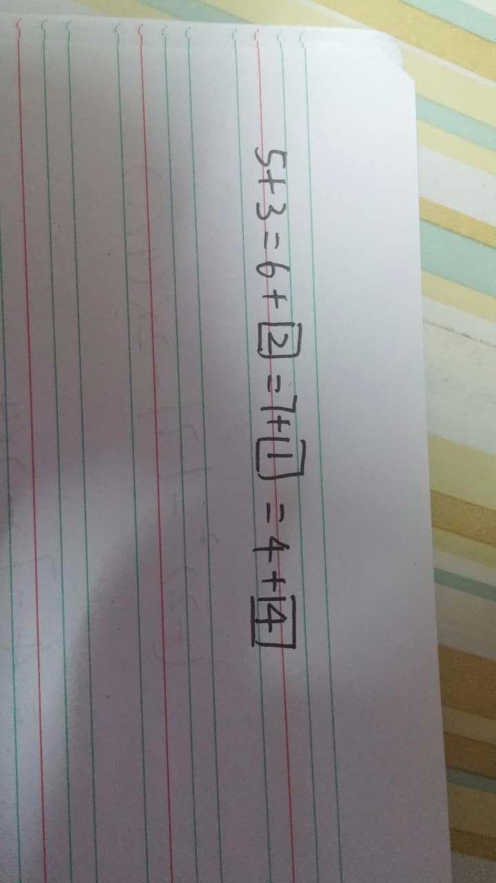 4十6=3十囗这一题怎么做的?