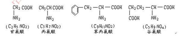其分子式为c55h70o19n10,已知将它完全水解后只得到下列四种氨基酸图片