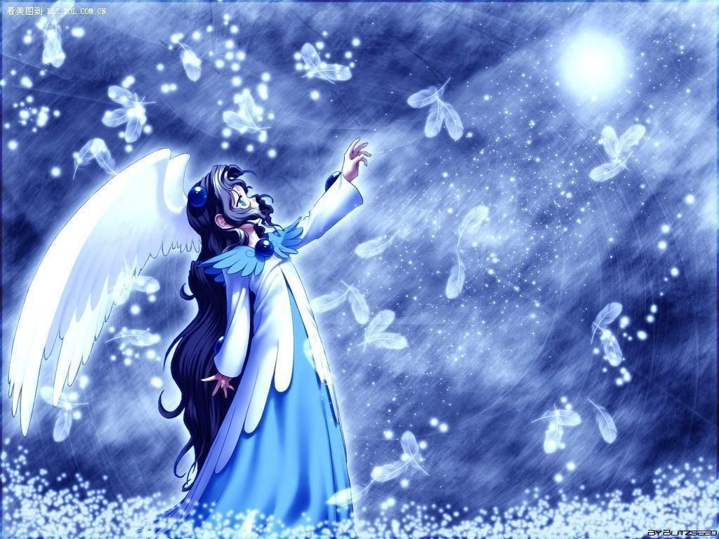 求一张蓝衣少女(动漫)的图图片