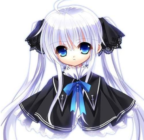 谁有日本可爱动漫银发蓝眸少女图片,像12岁_百度 ...