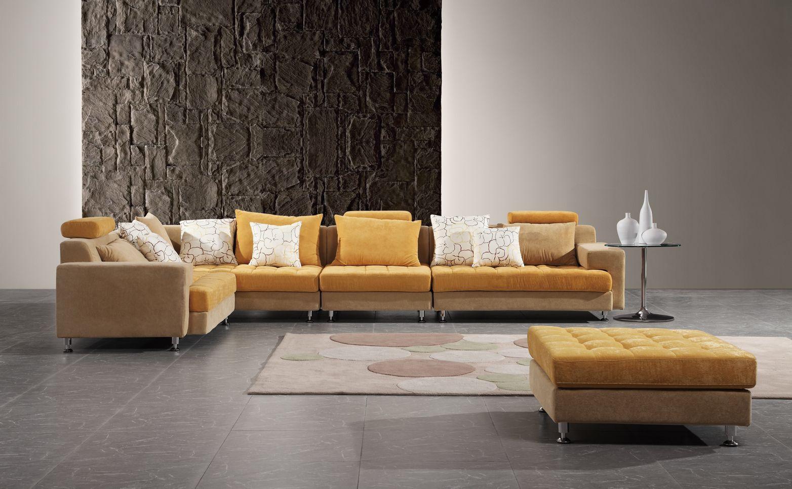 沙发坐垫是桔黄色的适合搭什么颜色的靠背图片