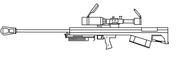 怎么画好枪支,武器,要稍微详细一点的(手画,不是在电脑上画)图片