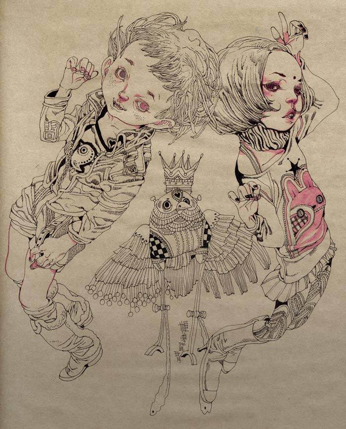 黑白肏网_荷花黑白线描装饰画 - 黑马素材网