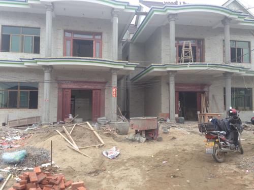 农村平房外墙瓷砖 农村房子外墙瓷砖 农村瓷砖房子图片