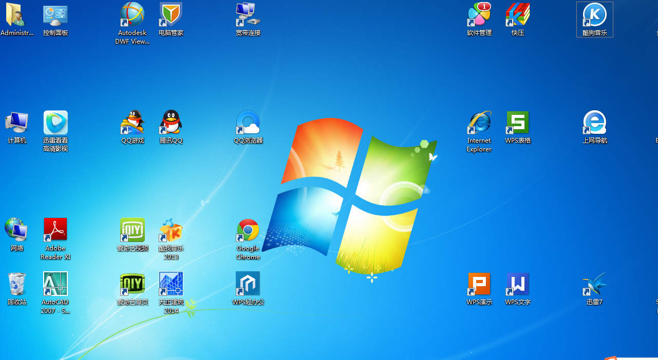 win7电脑桌面图标异常图片