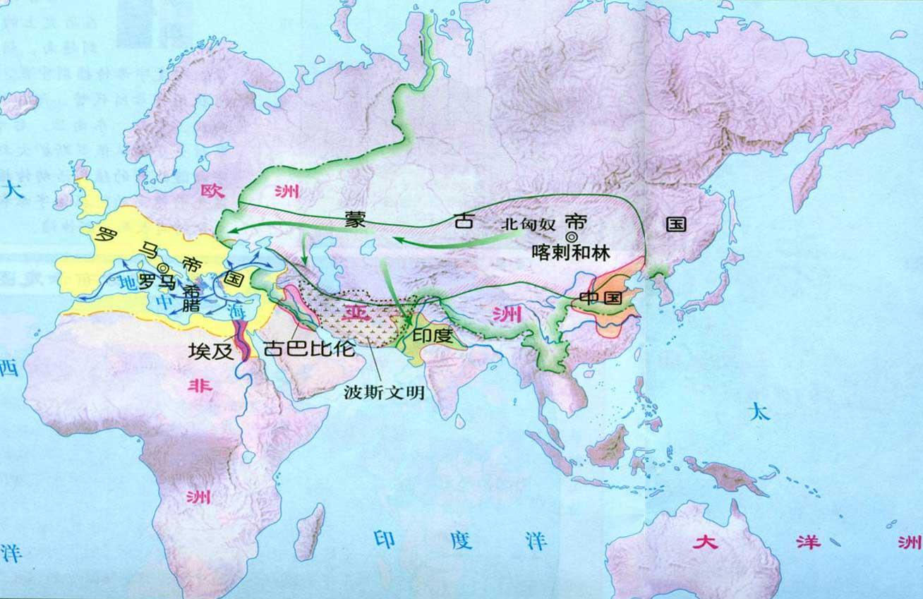 四大文明祖国在哪里地图图片
