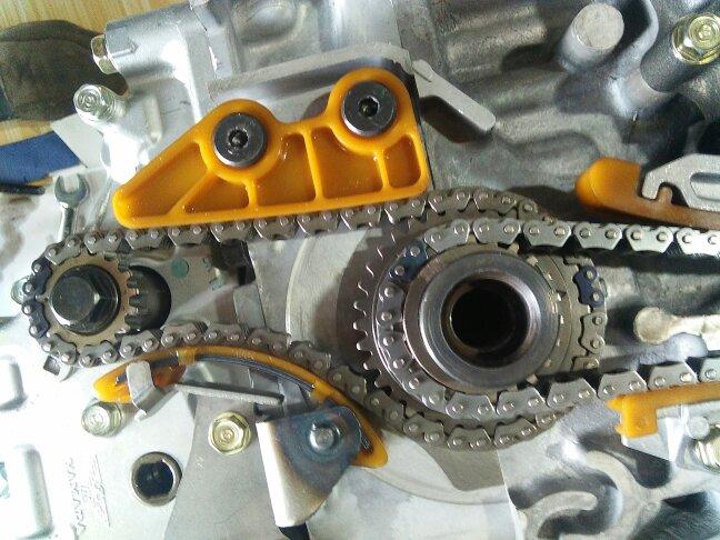 本田k24z2发动机机油泵正时图片