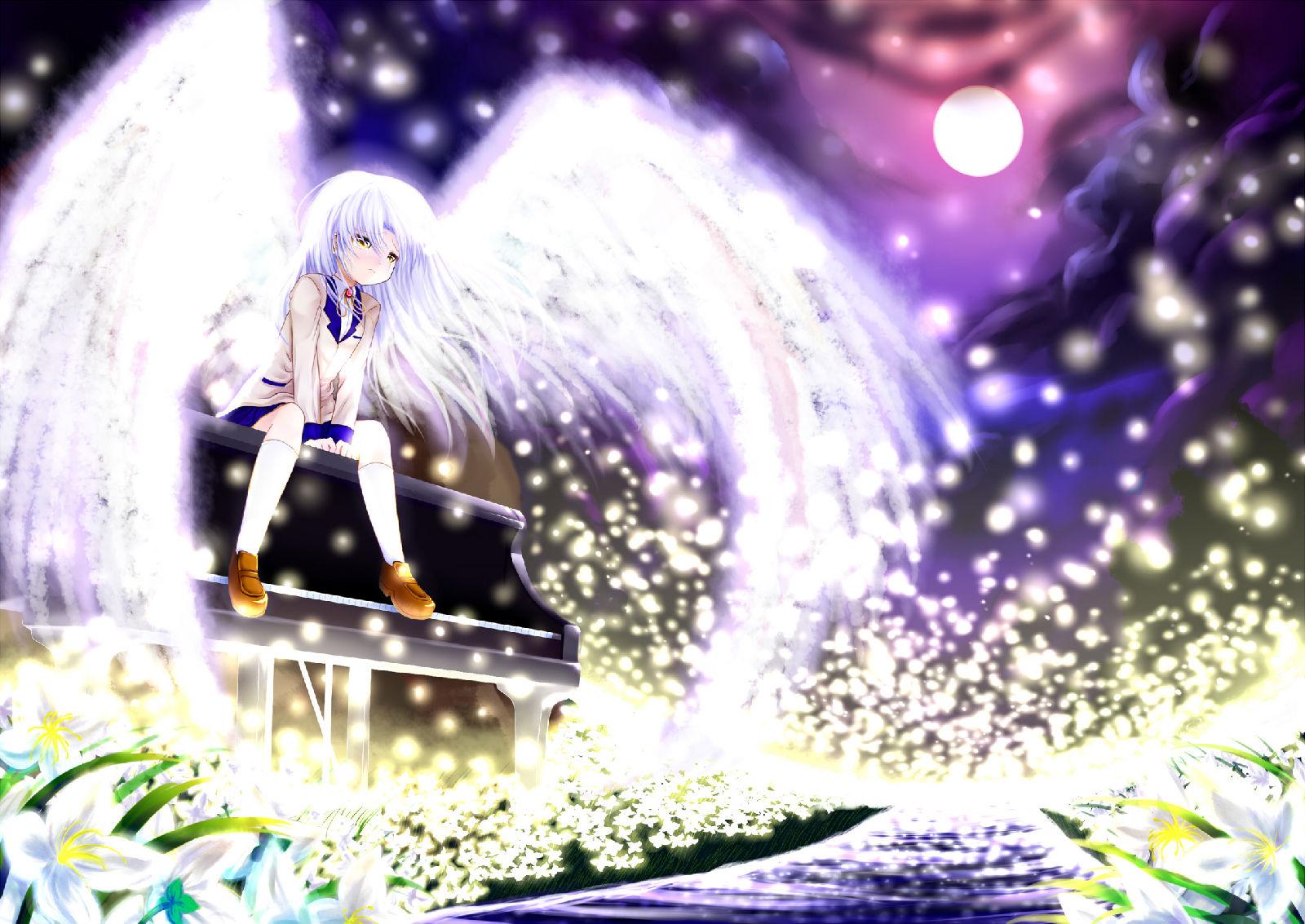 立华奏壁纸_求天使小奏有翅膀弹钢琴的壁纸越多越好