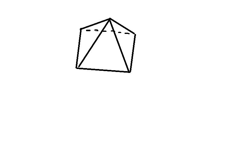 已知一个几何体的三视图如下,画出它的直观图并求出它图片