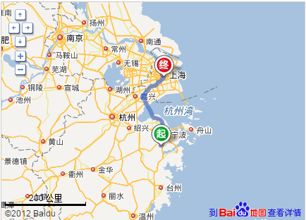上海到奉化多少公里