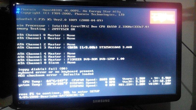 电脑卡在主板开机画面进不了系统如图tab和del键点了没用请问该怎么办