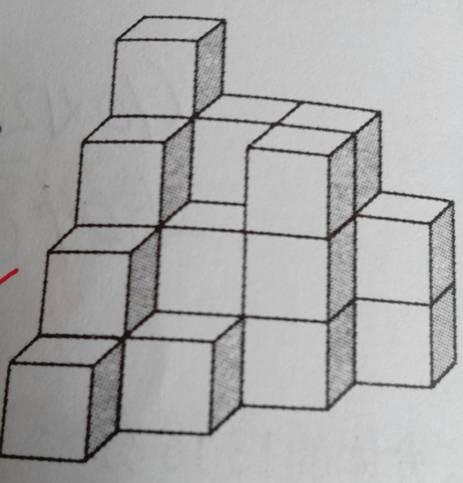 这个立体图形是由若干个1厘米正方体组成,求表面积图片