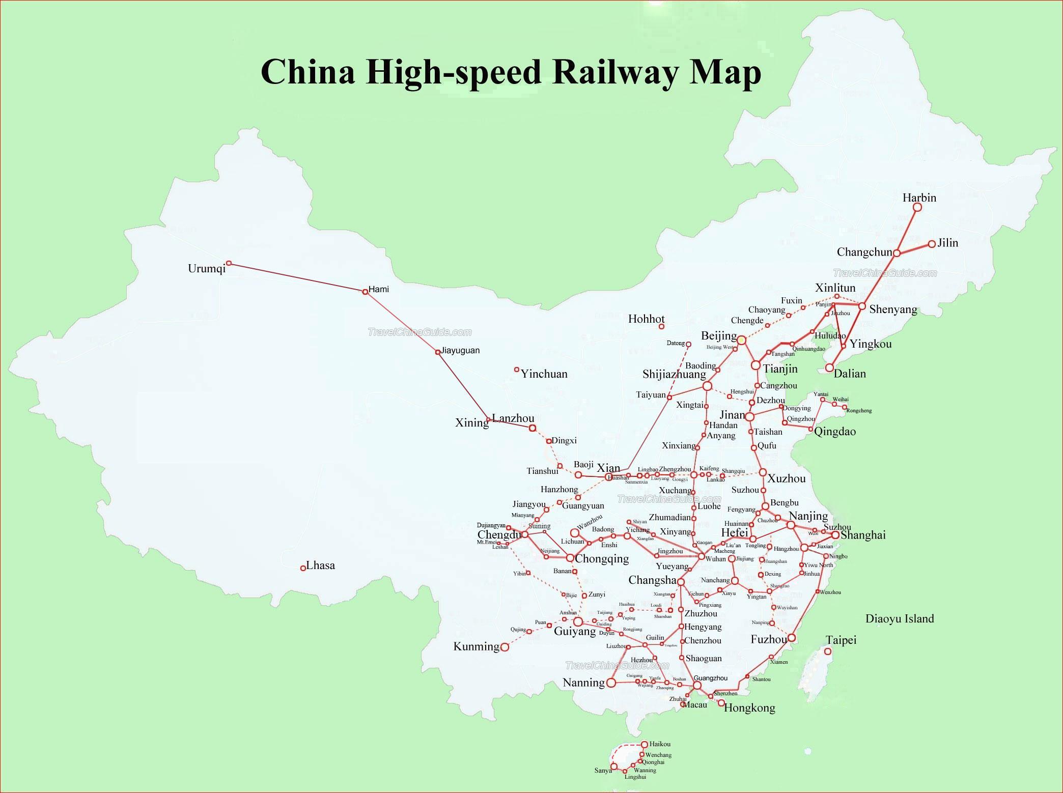 京津高铁延伸线地图 贵广高铁正式通车时间 2015高铁通车线路图