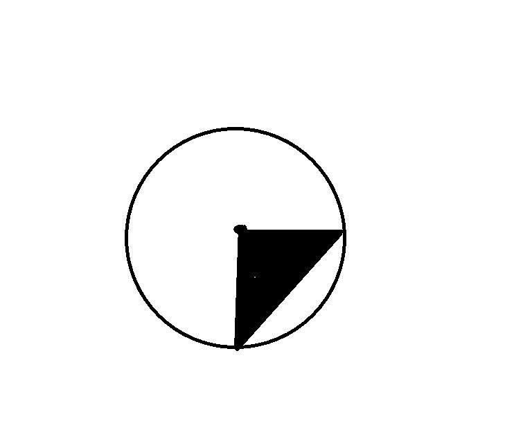 如下图,已知等腰直角三角形的面积是25平方分米,圆的面积是多少平方图片
