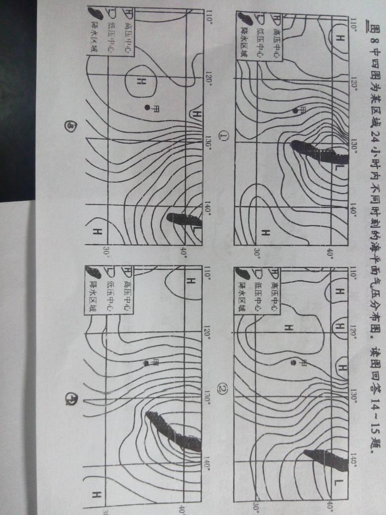 根据海平面气压分布图如何判断天气状况及气温图片