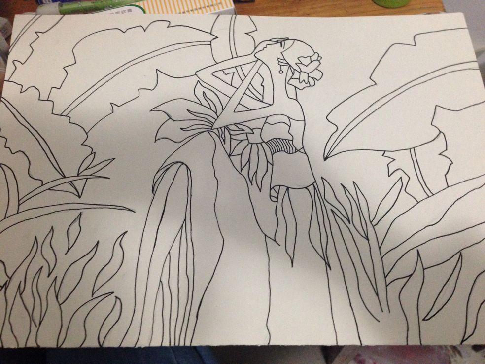 请问怎样画一幅简单的环保画,适合一年级的