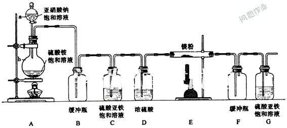 制备氮化镁的实验题