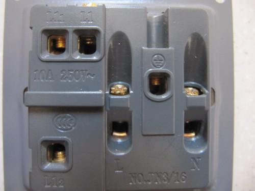 一开五孔插座接线图