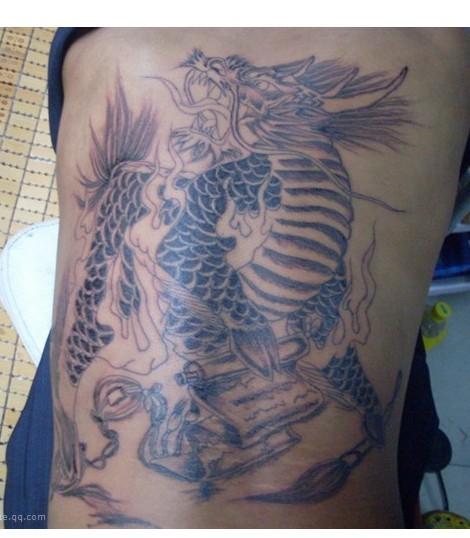 这个麒麟的纹身价格是多少,不上色或上色多少钱 ...