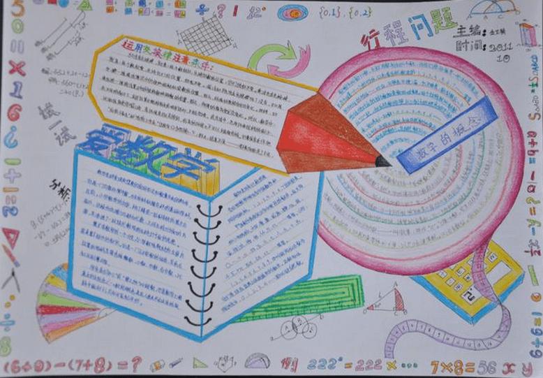四年级数学手抄报图片欣赏