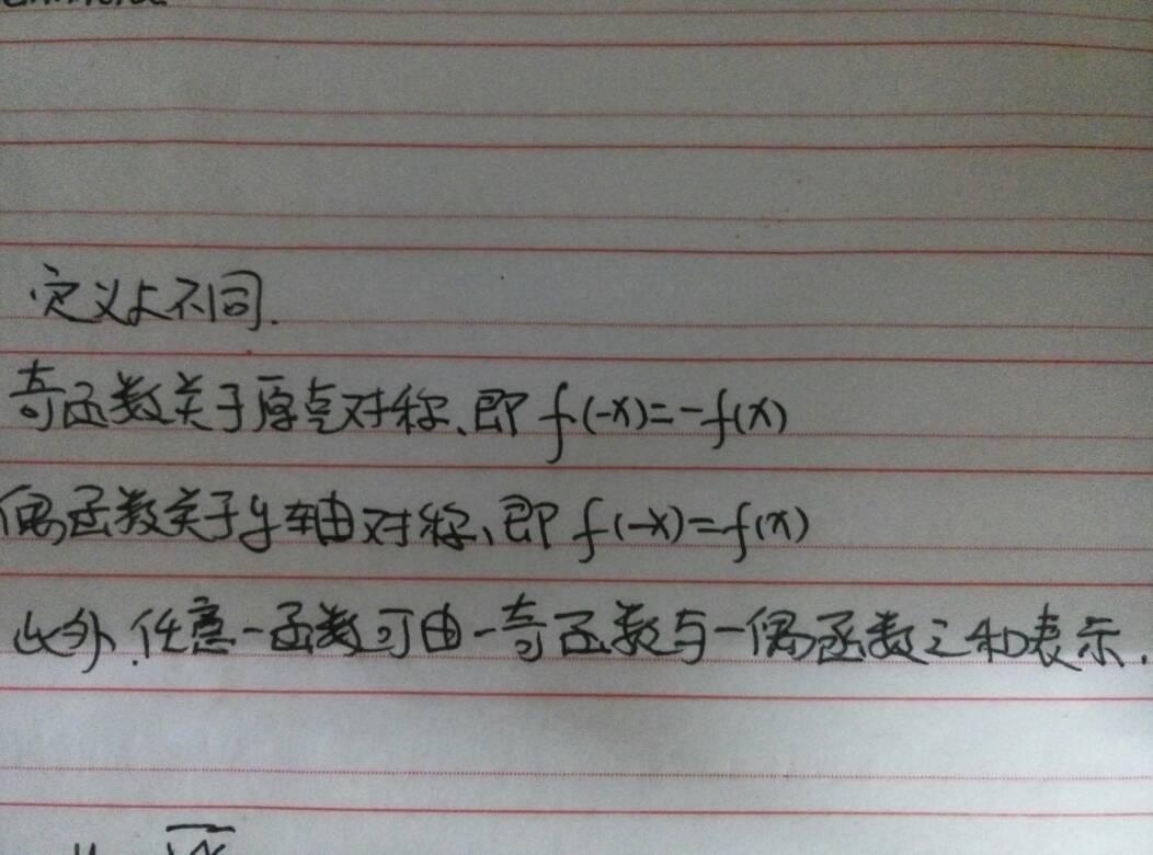 奇函数和偶函数的对称性