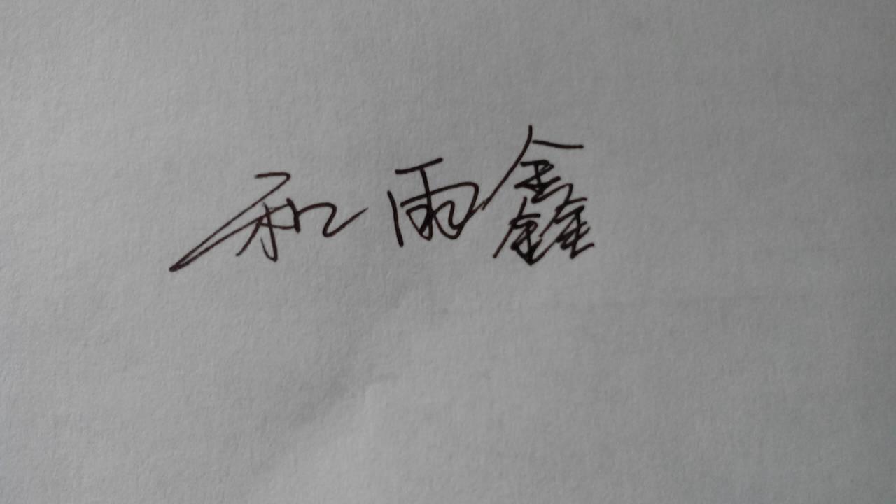 用连笔字帮我写 和雨鑫图片