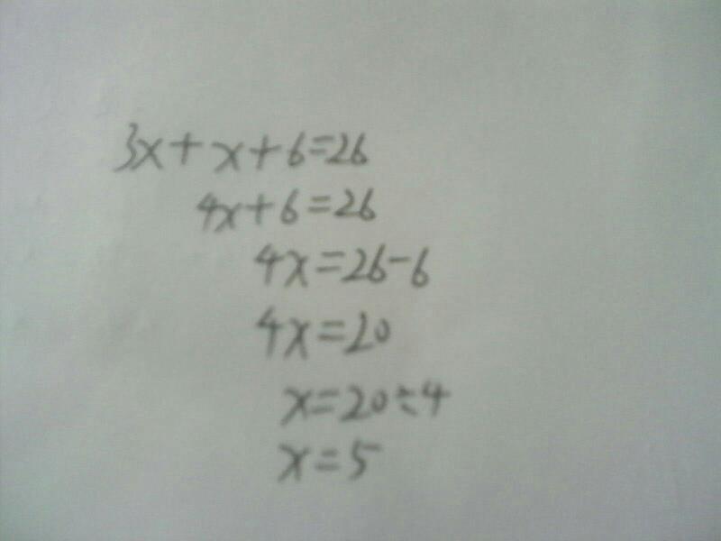 3x x 6=26怎么解方程