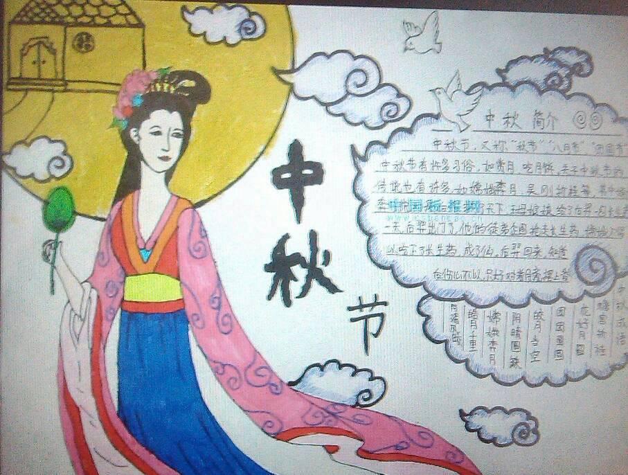 谁知道关于中秋节的英语手抄报图片?
