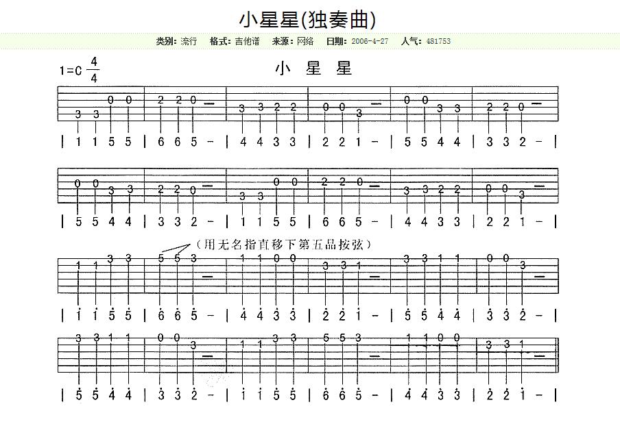 吉他记谱法分享图片
