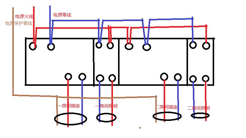求此配电箱详细接线图-配电柜接线图 电工接线电路图大全