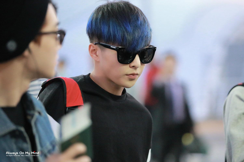 exo成员秀敏图片蓝头发图片