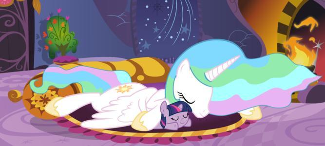 小马宝莉宇宙公主和月亮公主在一起的图片 百度知道